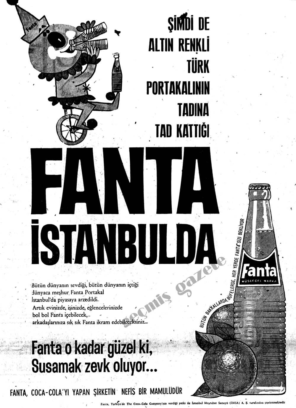 Şimdi de altın renki Türk portakalının tadına tad kattığı Fanta İstanbulda