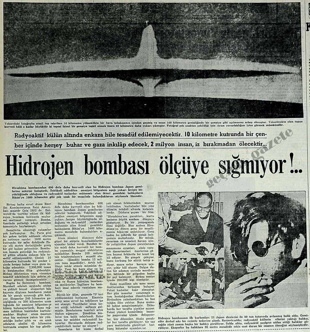 Hidrojen bombası ölçüye sığmıyor!..