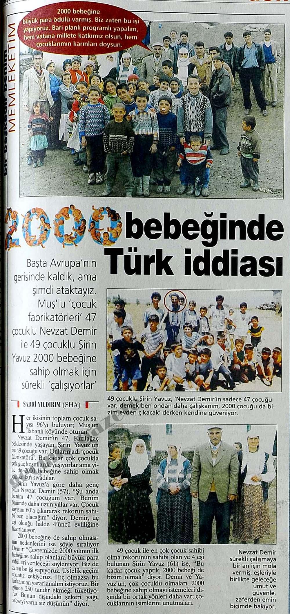 2000 bebeğinde Türk iddiası