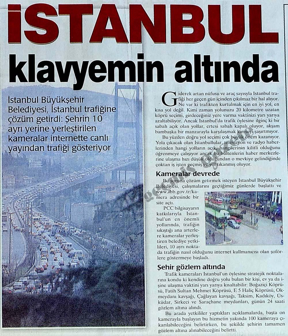 İstanbul klavyemin altında