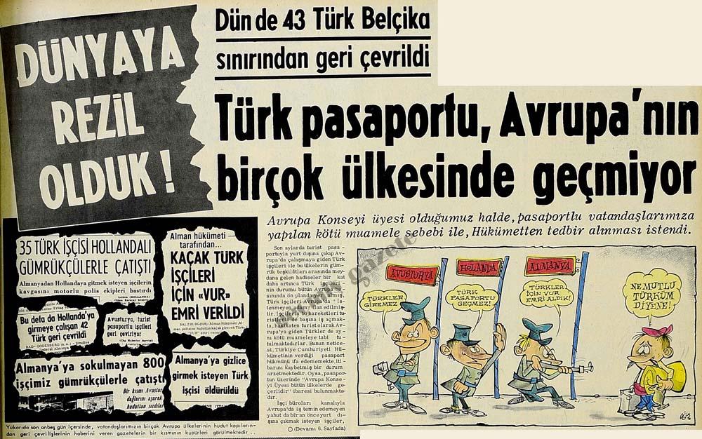 Türk pasaportu, Avrupa'nın birçok ülkesinde geçmiyor