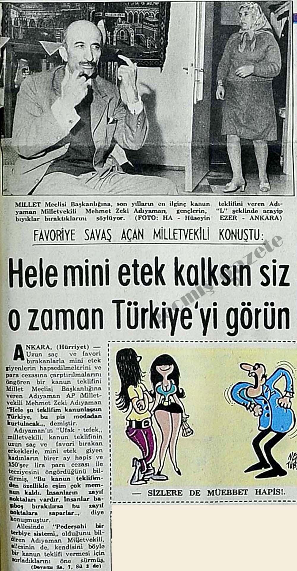 Hele mini etek kalksın siz o zaman Türkiye'yi  görün