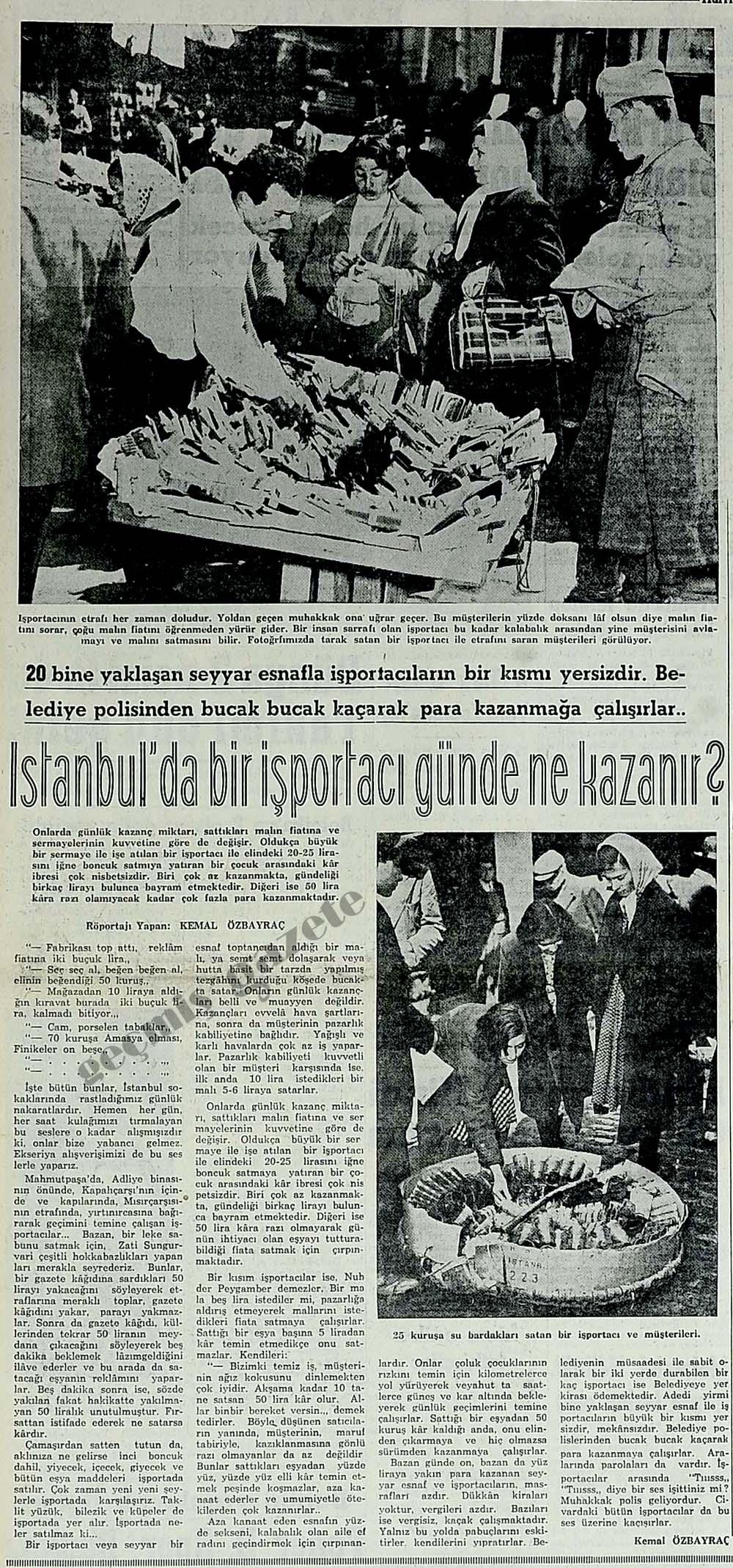 İstanbul'da bir işportacı günde ne kazanır?