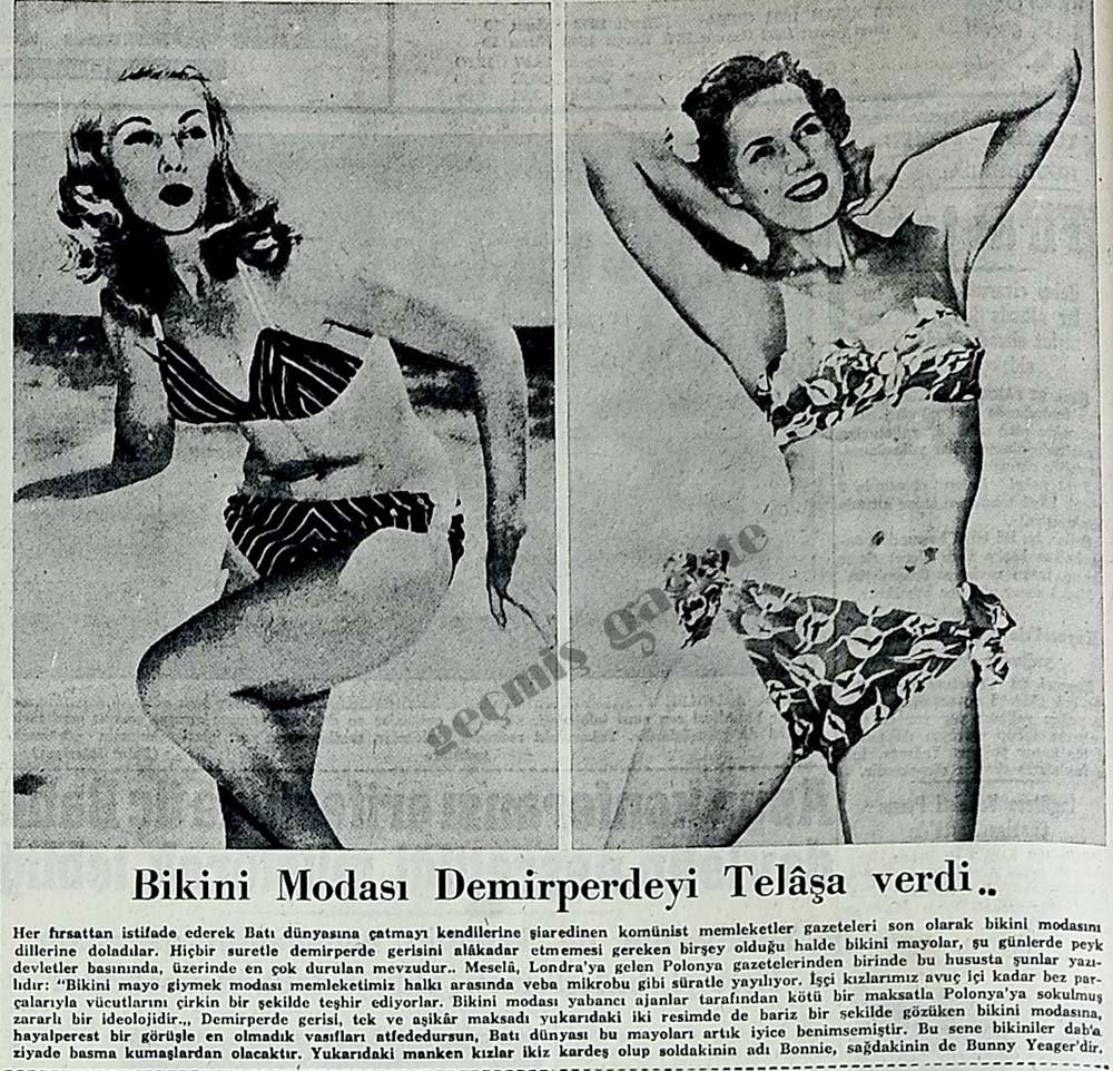 Bikini Modası Demirperdeyi Telaşa verdi..