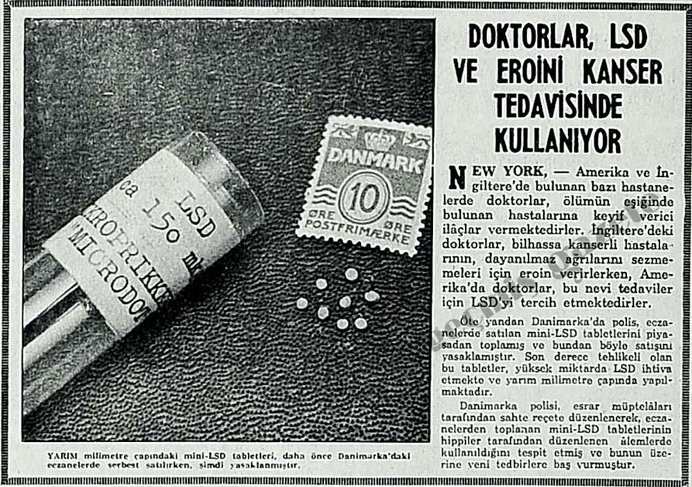 Doktorlar, LSD ve eroini kanser tedavisinde kullanıyor