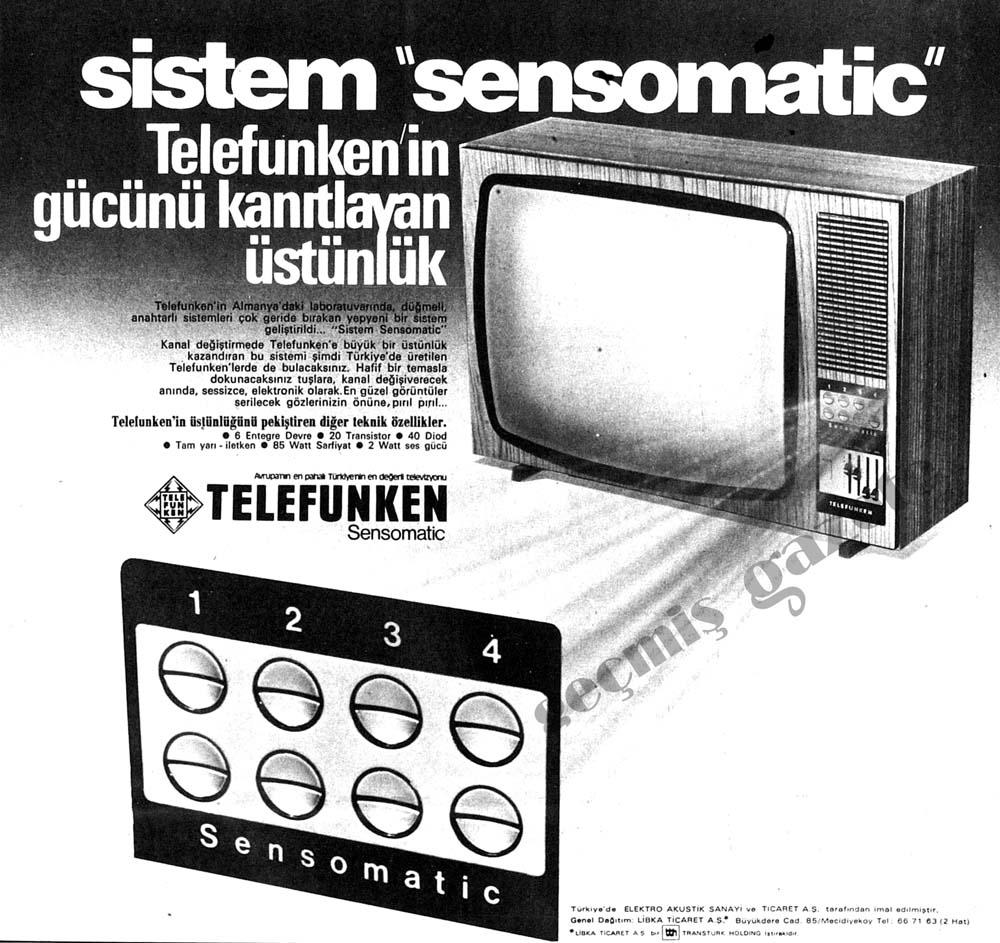 Sistem ''Sensomatic'' Telefunken'in gücünü kanıtlayan üstünlük