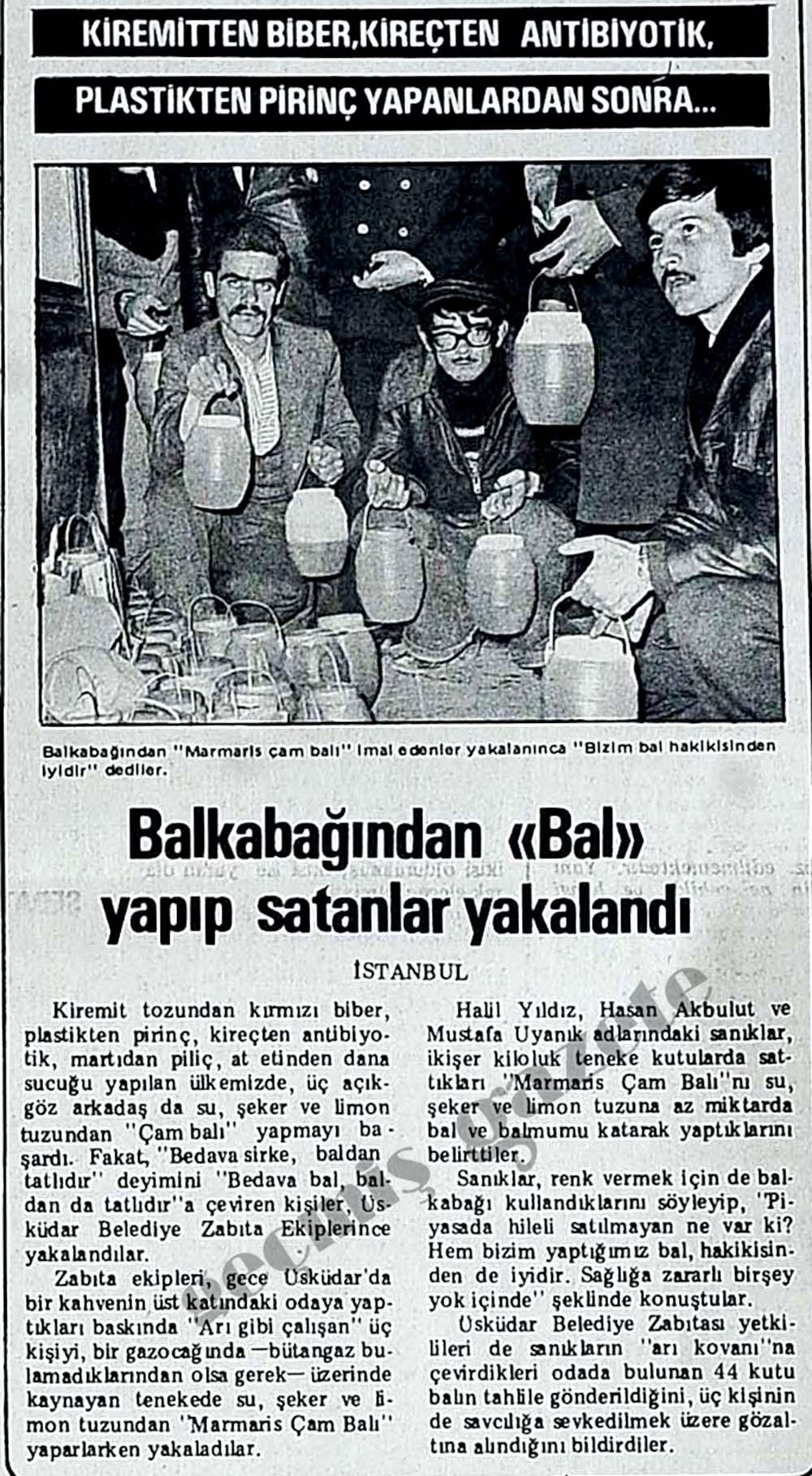 Kiremitten biber, kireçten antibiyotik yapanlardan sonra Balkabağından ''Bal'' yapıp satanlar yakalandı