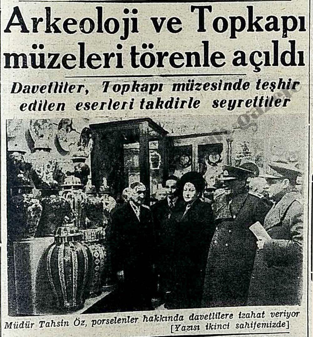 Arkeoloji ve Topkapı müzeleri törenle açıldı