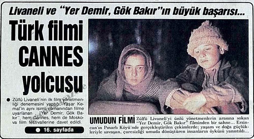 Türk filmi Cannes yolcusu