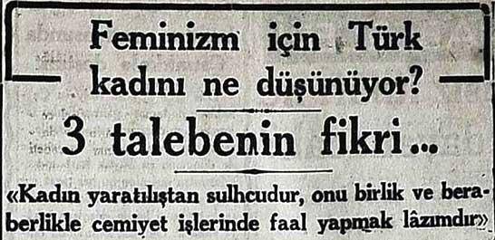 Feminizm için Türk kadını ne düşünüyor?
