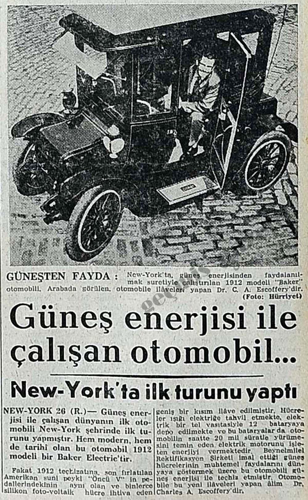 Güneş enerjisi ile çalışan otomobil...