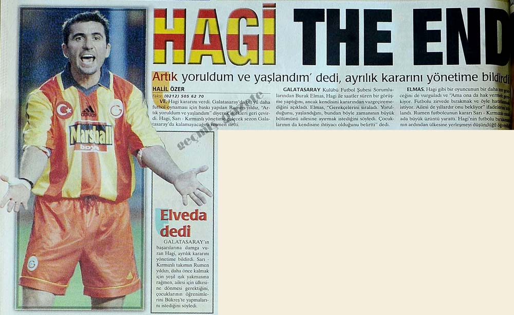 Hagi The End