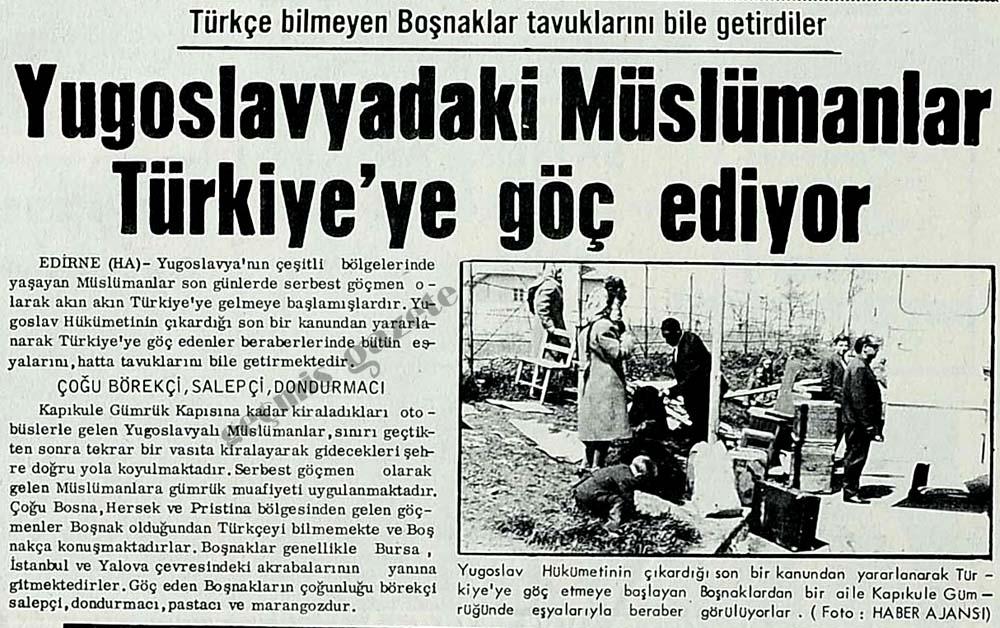 Yugoslavyadaki Müslümanlar Türkiye'ye göç ediyor