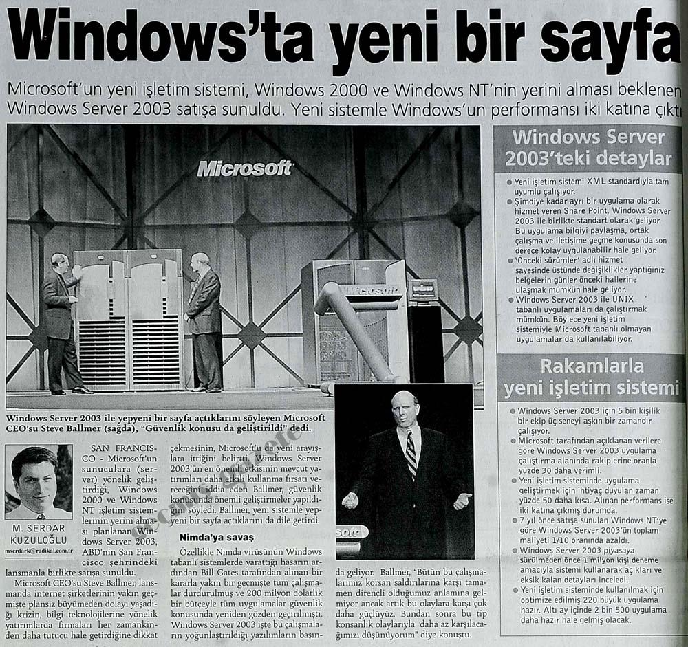 Windows'ta yeni bir sayfa