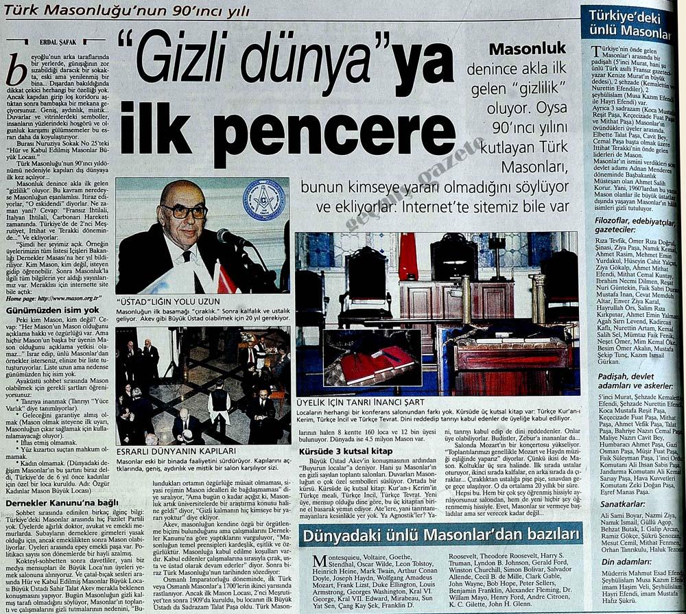 Türk Masonluğu'nun 90'ıncı yılı