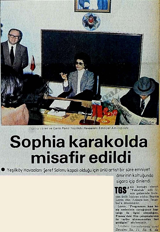 Sophia Loren karakolda misafir edildi