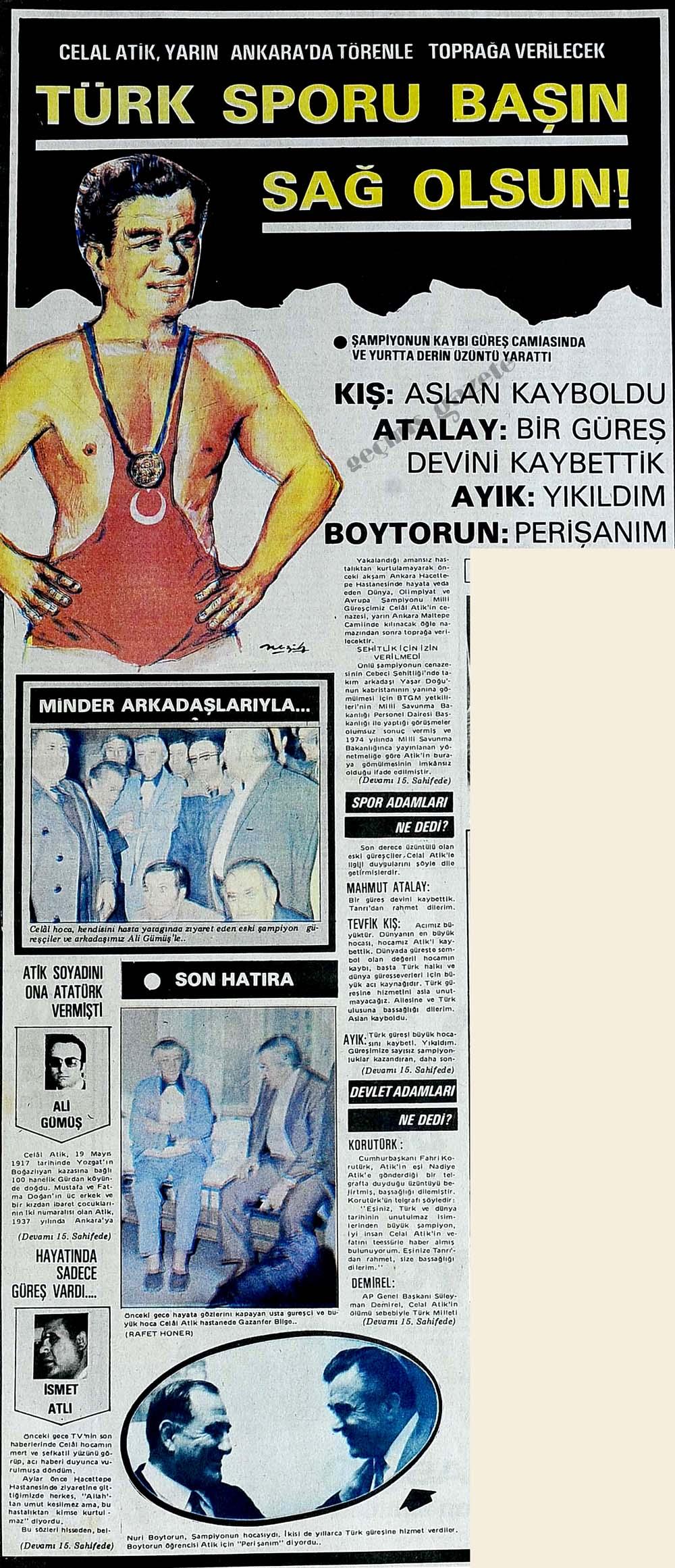 Türk sporu başın sağ olsun!