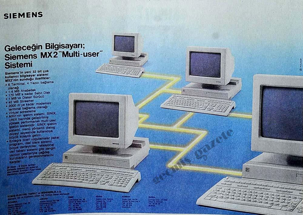 """Geleceğin Bilgisayarı; Siemens MX2 """"Multi-user"""" Sistemi"""