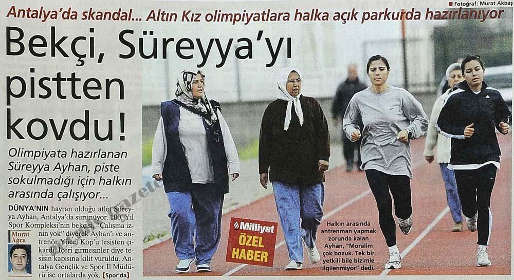 Bekçi, Süreyya'yı pistten kovdu!