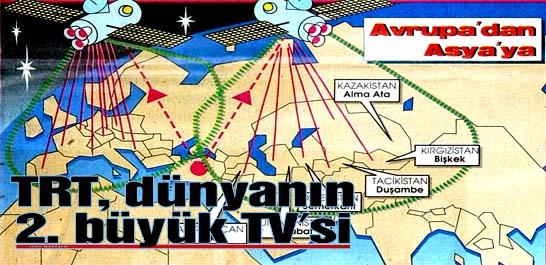TRT, dünyanın 2. büyük TV'si