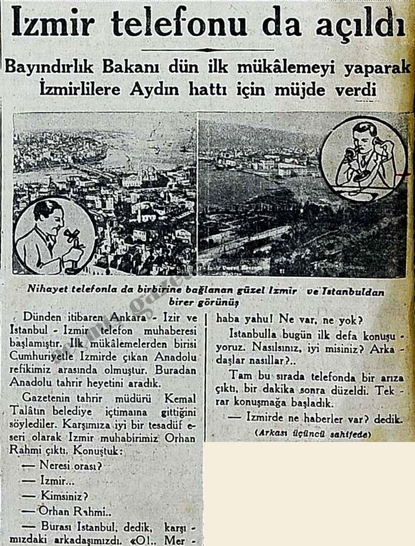 İzmir telefonu da açıldı