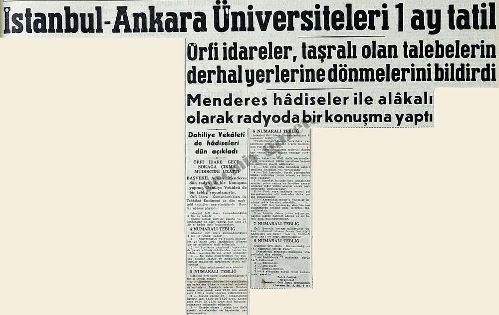 İstanbul - Ankara Üniversiteleri 1 ay tatil