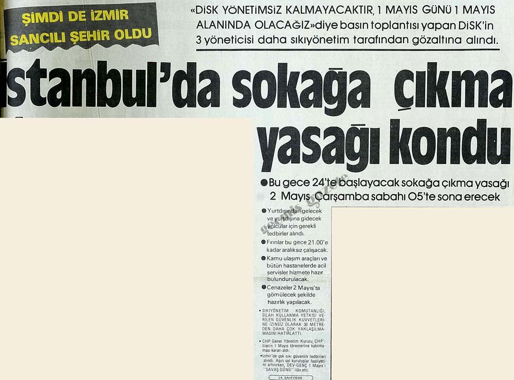 İstanbul'da sokağa çıkma yasağı konuldu