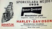 Sporculara müjde! 1936 Harley-Davidson Motosikletleri geldi