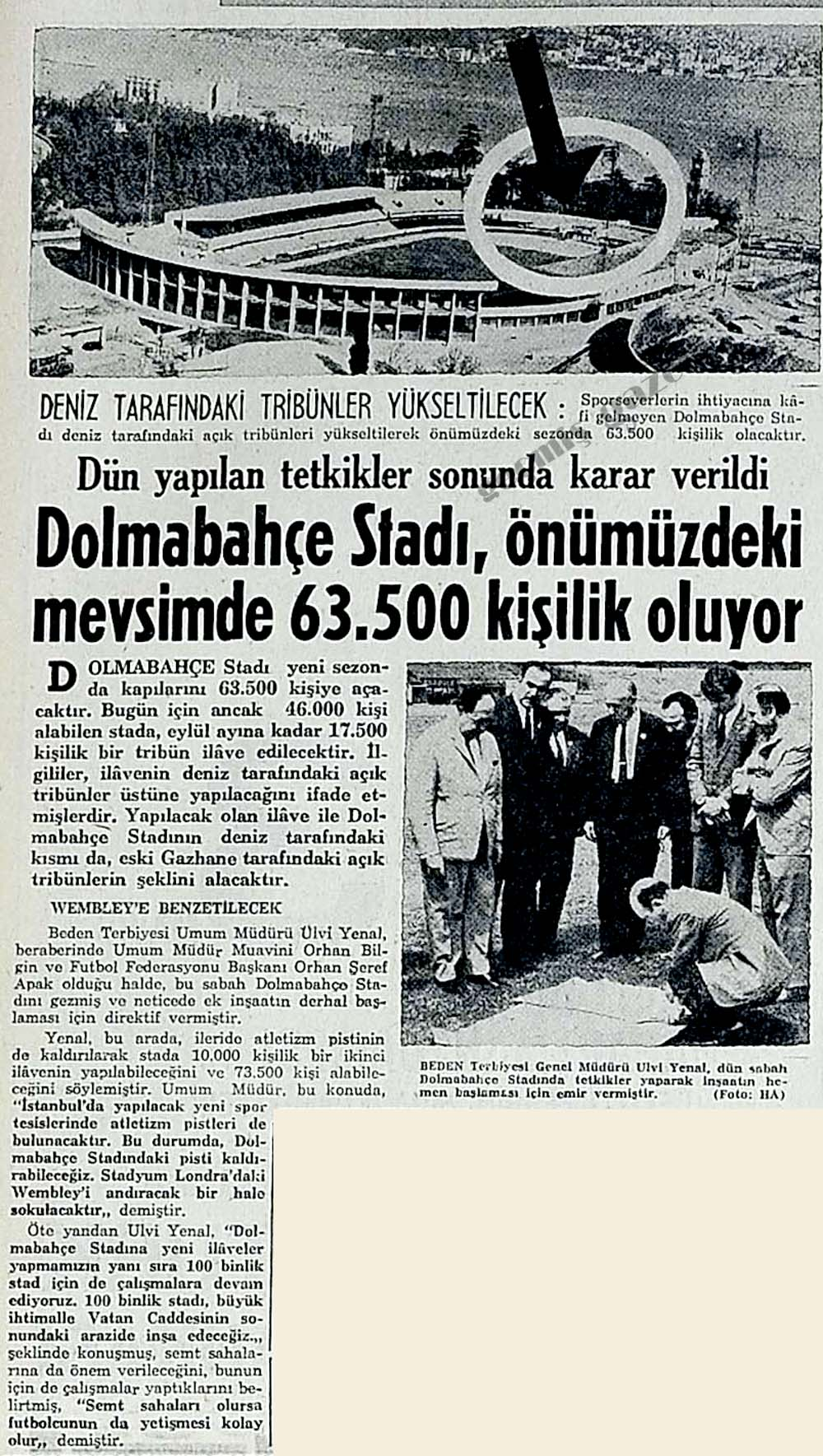 Dolmabahçe Stadı, önümüzdeki mevsimde 63.500 kişilik oluyor