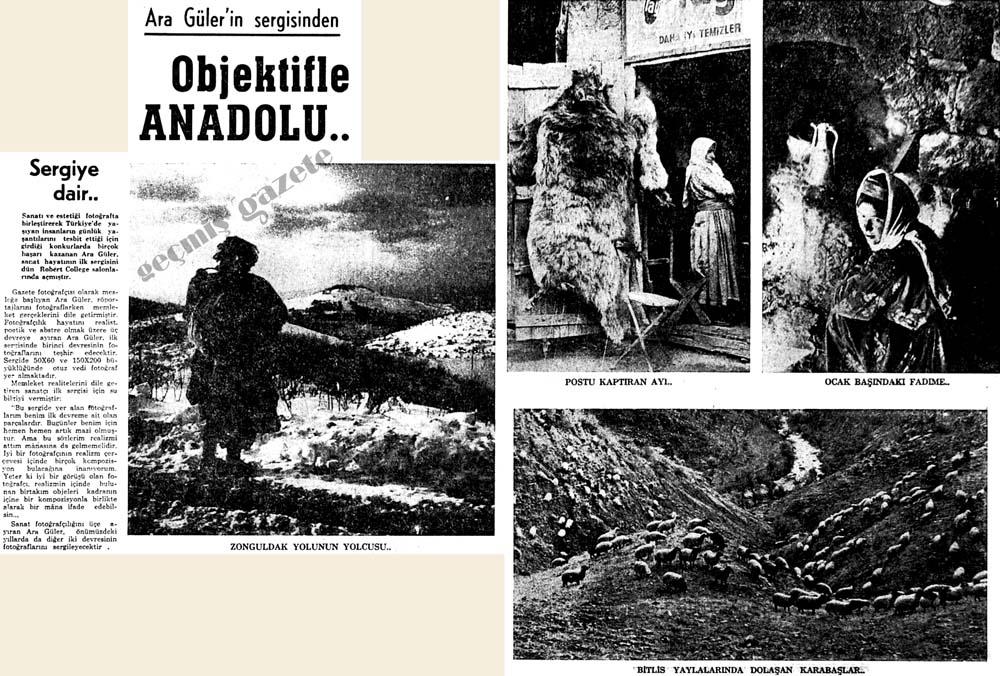 Ara Güler'in sergisinden Objektifle Anadolu..
