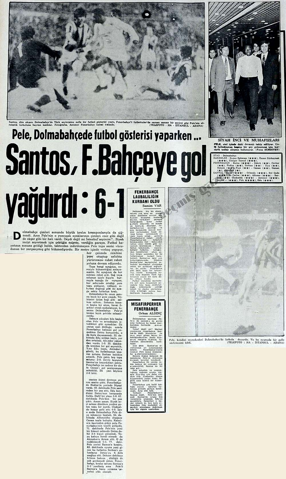 Pele, Dolmabahçede futbol gösterisi yaparken...
