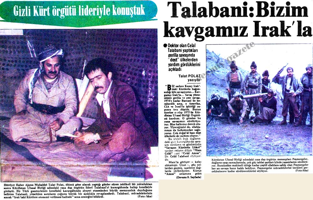 Talabani: Bizim kavgamız Irak'la