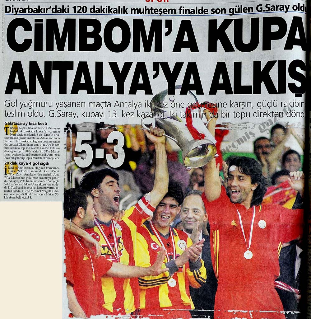 Cimbom'a kupa Antalya'ya alkış