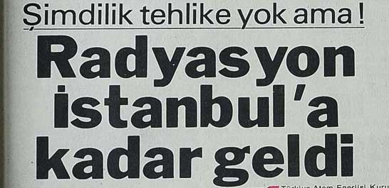 Radyasyon İstanbul'a kadar geldi