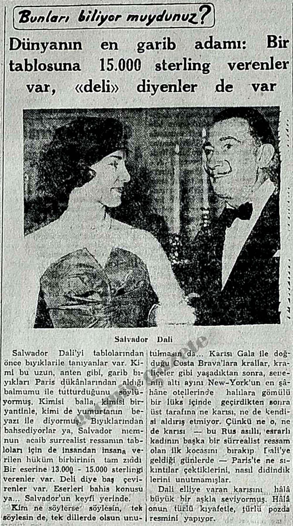 Dünyanın en garib adamı: Salvador Dali