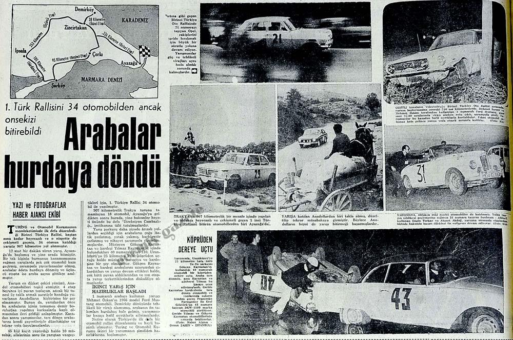 1. Türk Rallisini 34 otomobilden ancak onsekizi bitirebildi
