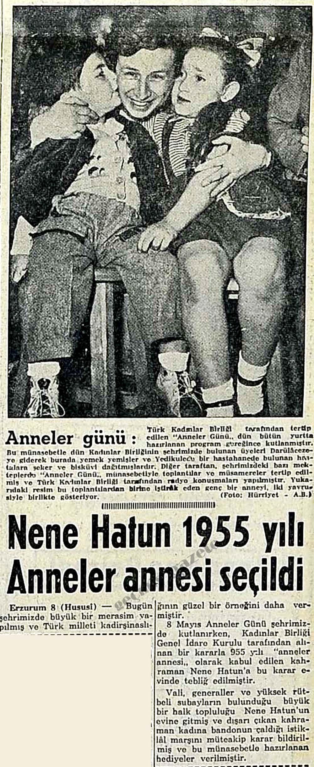 Nene Hatun 1955 yılı Anneler annesi seçildi