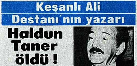Haldun Taner öldü