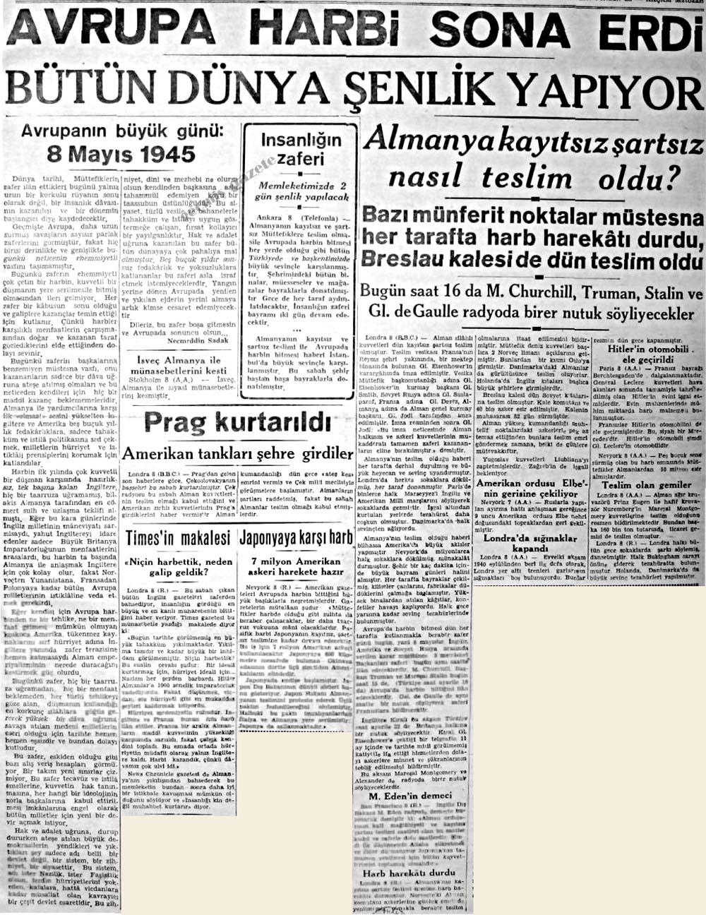 Avrupanın büyük günü: 8 Mayıs 1945