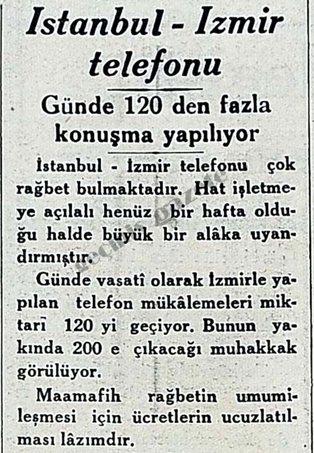 İstanbul-İzmir telefonun: Günde 120 den fazla konuşma yapılıyor