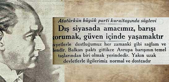 Atatürkün büyük parti kurultayında söylevi