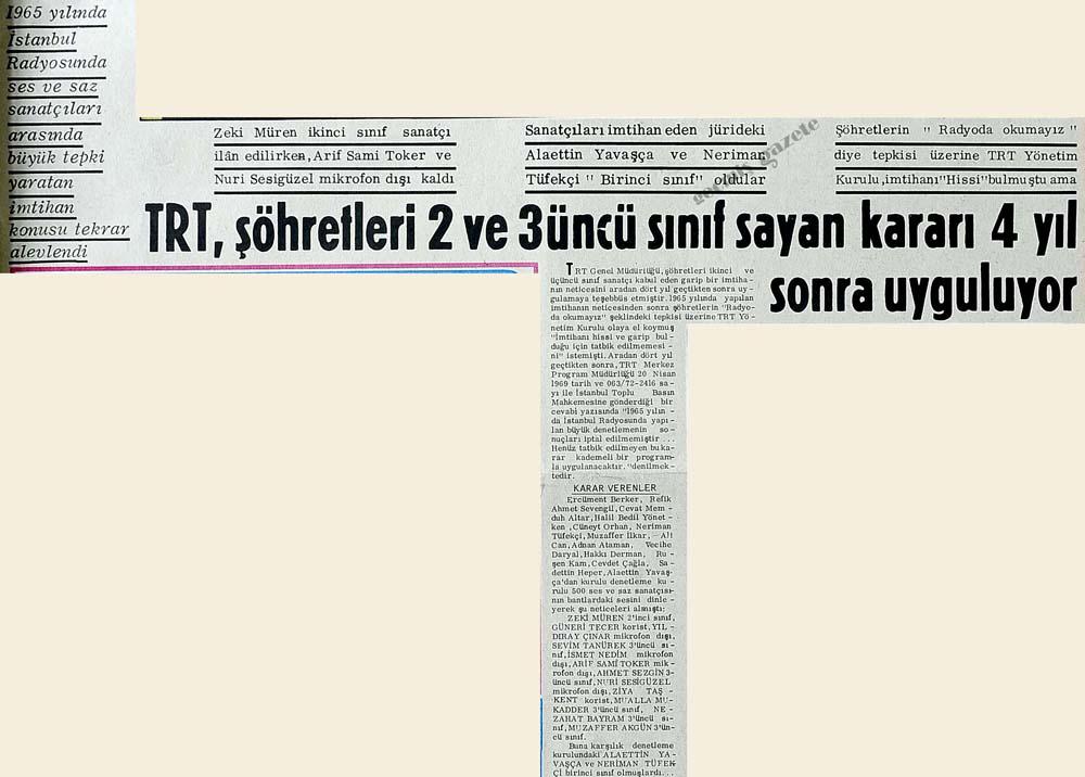 TRT, şöhretleri 2 ve 3 üncü sınıf sayan kararı 4 yıl sonra uyguluyor