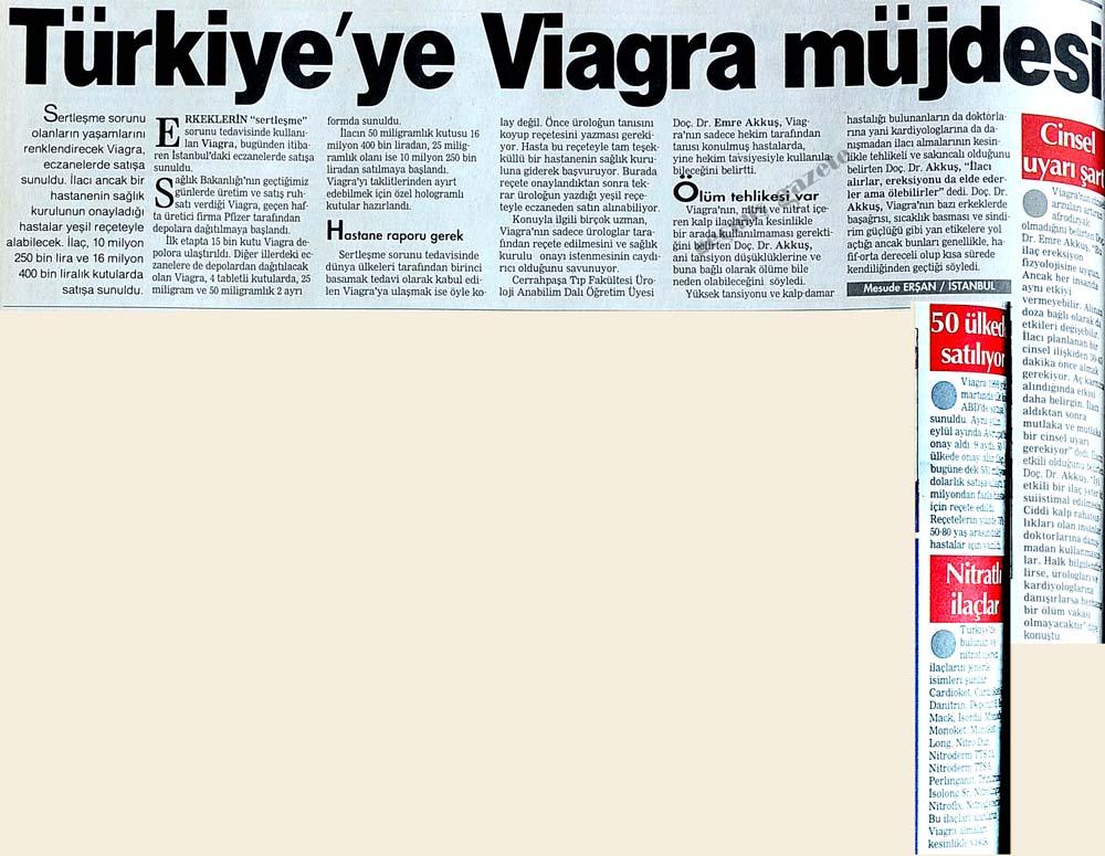 Türkiye'ye Viagra müjdesi