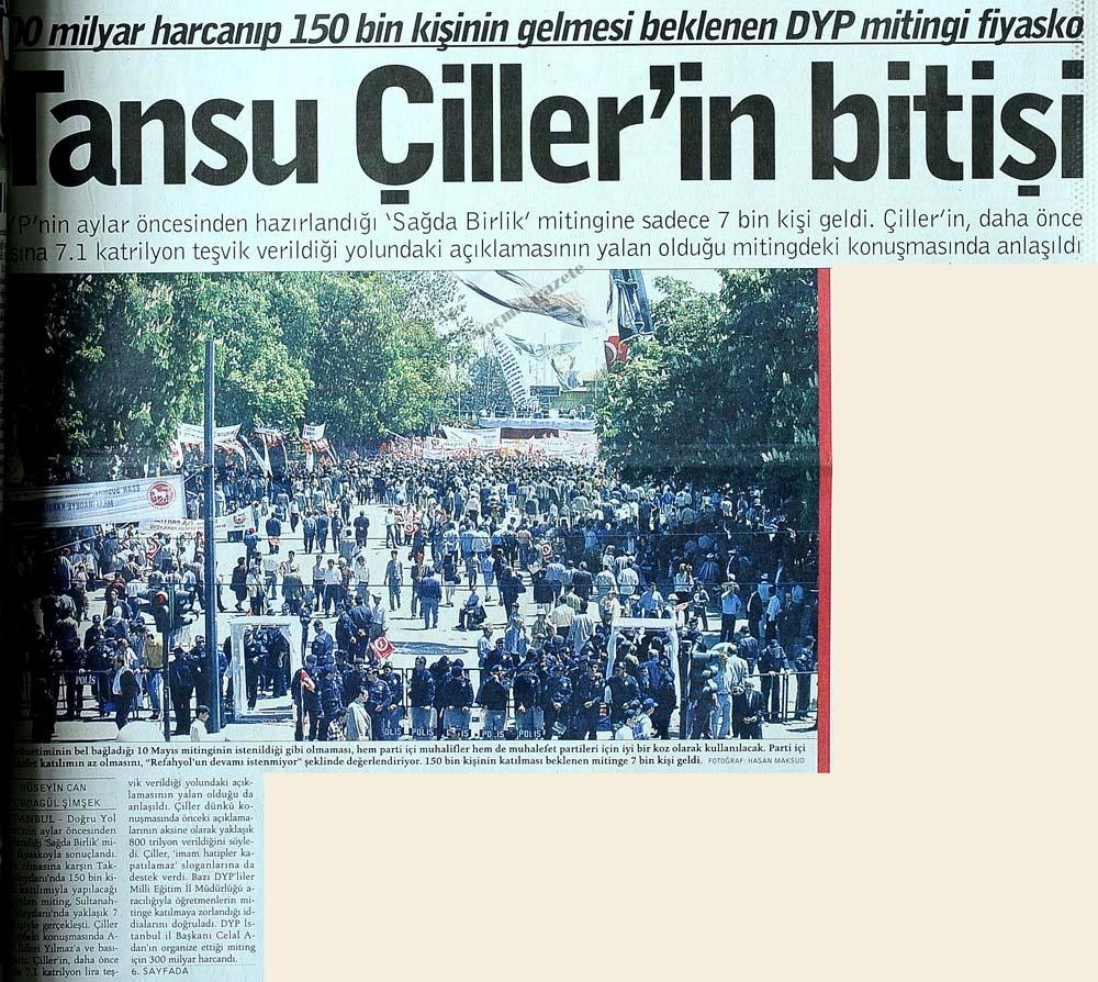Tansu Çiller'in bitişi