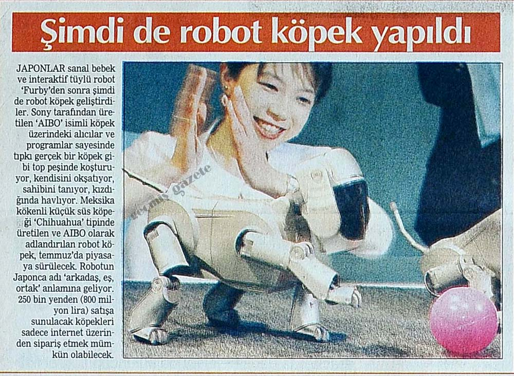 Şimdi de robot köpek yapıldı