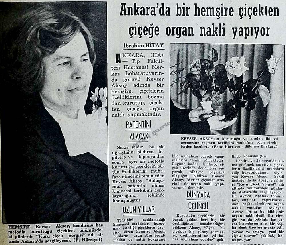 Ankara'da bir hemşire çiçekten çiçeğe organ nakli yapıyor