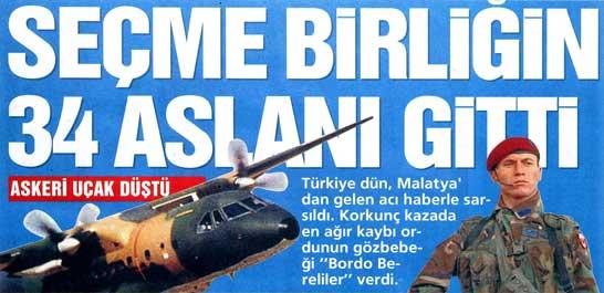 Askeri uçak düştü