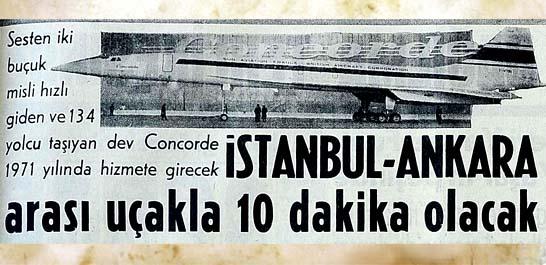 İstanbul-Ankara arası uçakla 10 dakika olacak