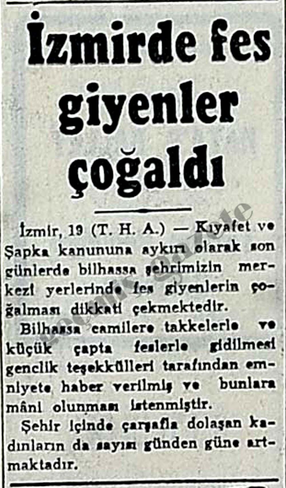 İzmirde fes giyenler çoğaldı
