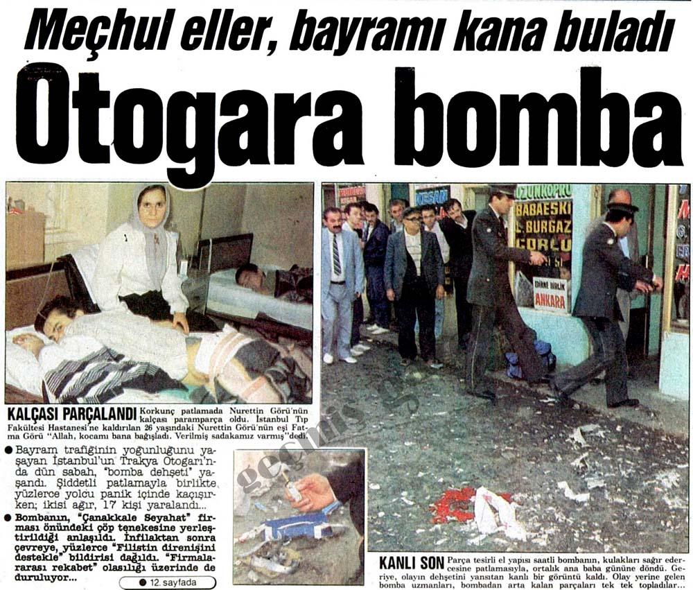 Meçhul eller, bayramı kana buladı Otogara bomba